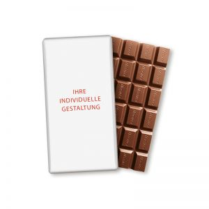100 g HACHEZ Schokoladentafel im Volleinschlag mit Werbedruck