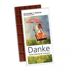 100 g Lindt Premium Schokoladentafel in Werbekartonage