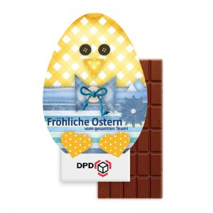 100 g Lindt Schokoladentafel in Osterei-Kontur-Werbekartonage