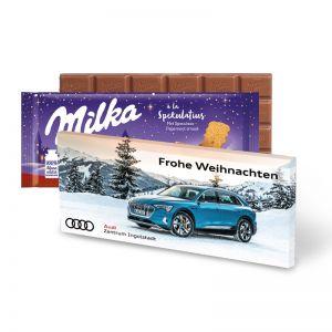 100 g Milka Weihnachtsschokolade Spekulatius mit Werbedruck