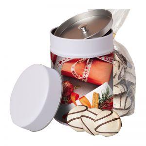100 g Schoko-Pfeffernuss in Keksdose mit Werbeetikett
