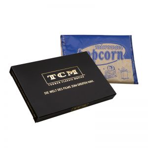 100 g süßes Mikrowellen-Popcorn in Box mit Logodruck