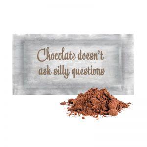 12 g Bio Kakao Getränkepulver in Portionstütchen mit Werbedruck