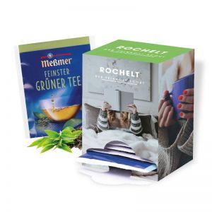 14 Tage Spender mit Meßmer Tee und Werbedruck