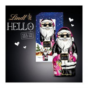 140 g Lindt HELLO Xmas Santa in Werbekartonage
