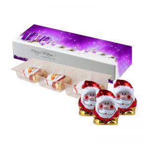 15 g Bio Schoko-Weihnachtswichtel in Faltschachtel mit Werbedruck