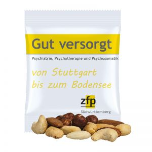 15 g Erdnuss-Nusskernmischung im Werbetütchen mit Logodruck