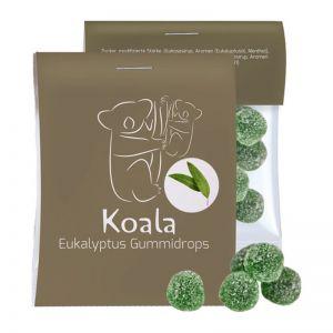 15 g Express Eukalyptus Menthol Fruchtgummi im Flowpack mit Werbereiter