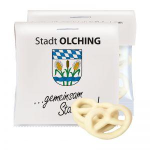 15 g Express Mini Brezeln mit Joghurt überzogen mit Werbereiter