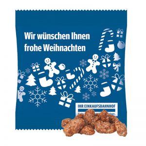 15 g feuergebrannte Bio Mandeln im Werbetütchen mit Logodruck