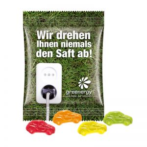 15 g Fruchtgummi Minitüte Standardformen mit Logodruck