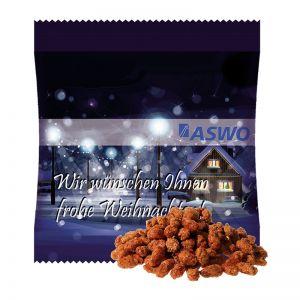 15 g gebrannte Erdnüsse im Werbetütchen mit Logodruck