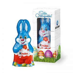 15 g Kinder Schokolade Harry Hase in Werbekartonage mit Logodruck