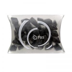 15 g Salmiak-Splitter in Mini-Kissen und Logodruck