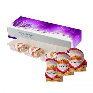 15 g Schoko-Weihnachtswichtel in Faltschachtel mit Werbedruck