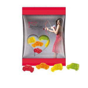 15 g Trolli Fruchtgummi Automischung im Werbetütchen mit Logodruck