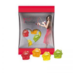 15 g Trolli Fruchtgummi Häuser im Werbetütchen mit Logodruck