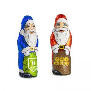 15 g Weihnachtsmann in Stanniolpapier mit Logodruck