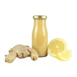 150 ml Bio Smoothie Zitrone, Ingwer & Macawurzel mit Werbeetikett