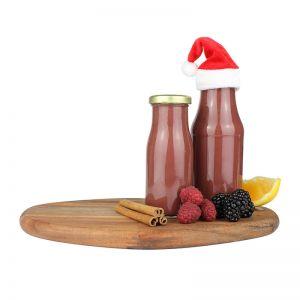 150 ml Bio Wintersmoothie mit Zimt & Beeren und mit Werbeetikett