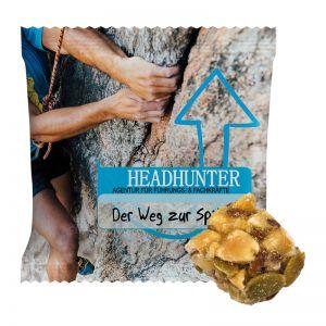 18 g Bio Crunchy Müsli Würfel Lemon im Werbetütchen mit Logodruck