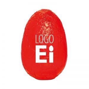 18 g Schoko-Osterei in Stanniol rot mit Logodruck