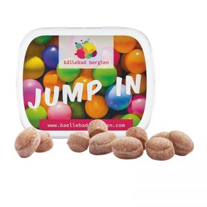 19 g Bonbons in Klappdeckeldose mit Werbedruck