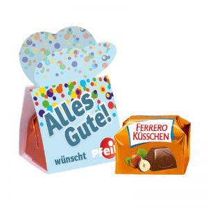 1er Ferrero Küsschen mit Werbebanderole und Logodruck