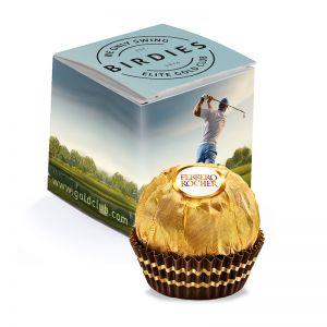 1er Ferrero Rocher in Werbekartonage mit Logodruck