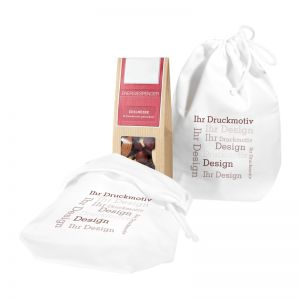 1er Snack im Baumwollsäckchen mit Werbebedruckung