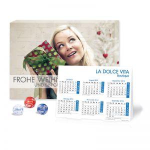 2 in 1 Adventskalender mit Jahresplaner Lindt Minis