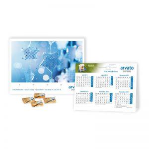 2 in 1 Werbe-Adventskalender mit Jahresplaner Lindt
