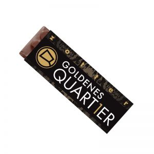 20 g handgeschöpfter zotter Schokoladenriegel mit Logodruck