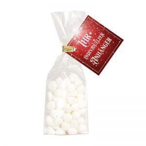 20 g Schaumgebäck Sweet SnowFlakes mit Werbeanhänger
