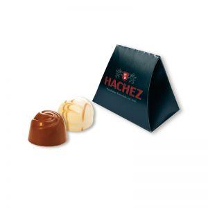 21 g HACHEZ Pralinen-Minipack mit Werbedruck