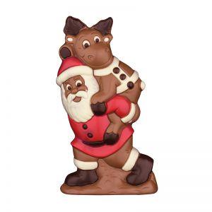 225 g Weihnachtsfigur Weihnachtsmann trägt Elch