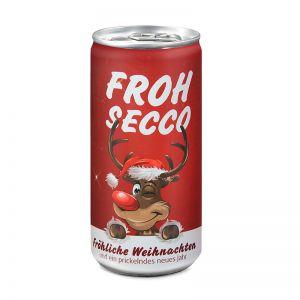 24 Seccodosen FROHSECCO Elch - rot