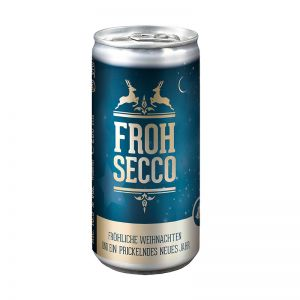 24 Seccodosen FROHSECCO Klassisch - blau