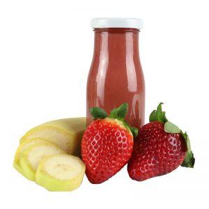 245 ml Bio Smoothie Erdbeere & Banane mit Werbeetikett