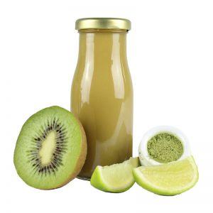 245 ml Bio Smoothie Kiwi, Limette & Weizengras mit Werbeetikett