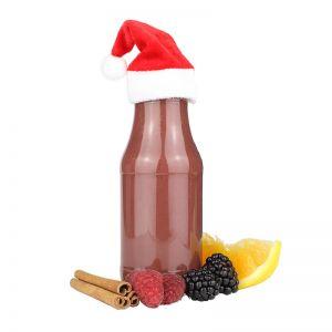 245 ml Bio Wintersmoothie mit Zimt & Beeren und mit Werbeetikett