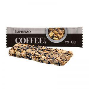 25 g Bio Knusperriegel Espresso im Flowpack mit Werbedruck