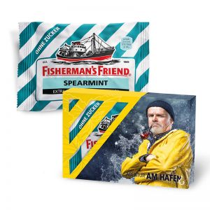 25 g Fisherman´s Friend in Werbekartonage mit Logodruck