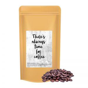 250 g Bio Kaffeebohnen in Doypack mit Werbeetikett