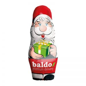 28 g Stanniol-Schoko-Weihnachtsmann mit Werbedruck