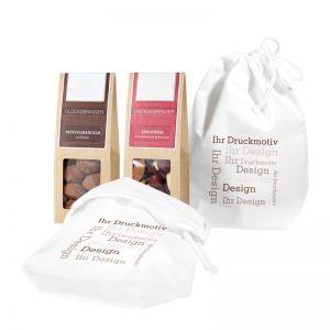2er Snack im Baumwollsäckchen mit Werbebedruckung