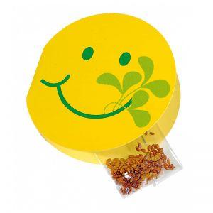 3,5 g Kresse-Samen in Smile-Klappkarte mit Werbedruck