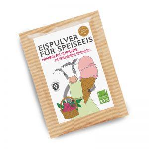 30 g Himbeere-Eispulver im Portionsbeutel mit Werbeanbringung