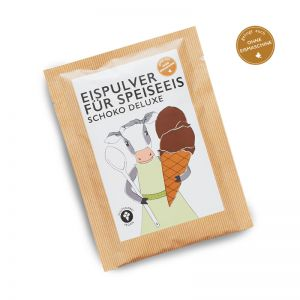 30 g Schokoladen-Zimt-Eispulver im Portionsbeutel mit Werbeanbringung