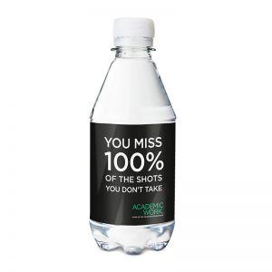 330 ml Promo Wasser Spritzig mit Logodruck